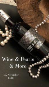 Wine & Pearls & More / 10. November 2018 / 14.00 Uhr @ Josef Glenz & Töchter  | Salgesch | Wallis | Schweiz